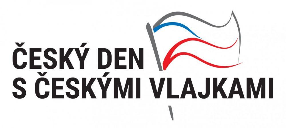 Český den s českými vlajkami - logo